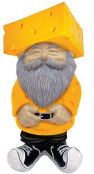 Green Bay Packers Cheesehead Garden Gnome