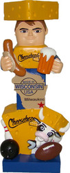 Green Bay Packers Milwaukee Wisconsin Cheesehead Statue (15.5 inches tall)