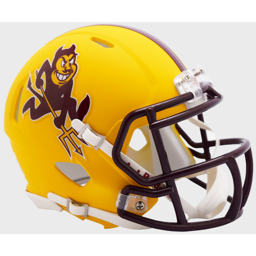 Arizona State Sun Devils Matte Yellow Sparky Revolution SPEED Mini Football Helmet