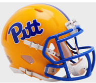 Pittsburgh Panthers (Pitt) 2019 New Gold Revolution SPEED Mini Football Helmet