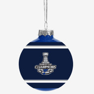 St. Louis Blues 2019 Stanley Cup Champions Glass Ball Christmas Tree Ornament