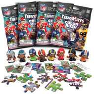 Party Animal NFL TeenyMates SERIES 8 Color Rush Figurines Mystery Packs (4 Packs)