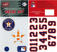 Houston Astros New 2013 Batting Helmet Rawlings Decal Kit