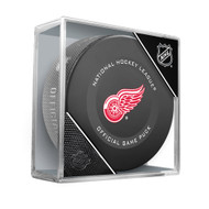 Detroit Red Wings Inglasco Official NHL Game Puck in Cube - New 2019-2020 Version