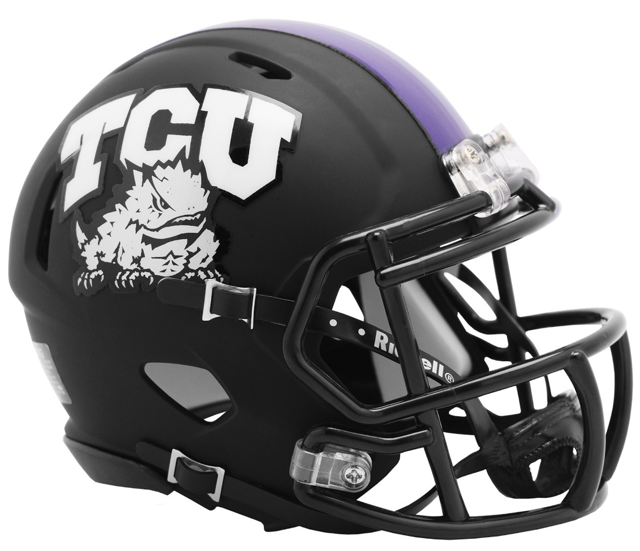 TCU Horned Frogs Schutt White Chrome Mini Football Helmet College Mini Helmets
