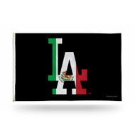 MLB Los Angeles Dodgers LA Logo Mexico Flag Colors 3x5 Foot Outdoor Banner Flag