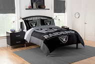 "NFL Oakland Raiders Full / Queen Comforter and Sham Set Size 86"" x 86"""