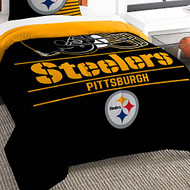 "NFL Pittsburgh Steelers Twin Bed Comforter Set Size 64"" x 86"""