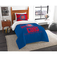 "MLB Chicago Cubs Twin Bed Comforter Set Size 64"" x 86"""