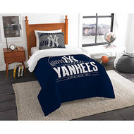 "MLB New York Yankees Twin Bed Comforter Set Size 64"" x 86"""