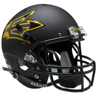 NCAA Arizona State Sun Devils Alternate Matte Black Pitchfork PT 42 Replica Full Size Football Helmet