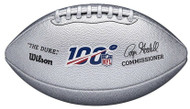 Wilson NFL 100 The Duke Ptatinum Metallic Official Football 100th Season