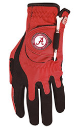 Zero Friction NCAA Alabama Crimson Tide Red Golf Glove, Right Hand for a Lefty