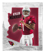 "Kyler Murray Arizona Cardinals NFL Silk Touch Throw Blanket Size 50"" x 60"""