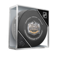 2020 Winter Classic Inglasco Official NHL Game Puck in Cube - Dallas Stars vs. Nashville Predators - Cotton Bowl, Dallas, TX.