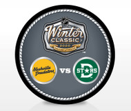 2020 Winter Classic NHL Dueling Inglasco Souvenir Puck - Nashville Predators vs. Dallas Stars