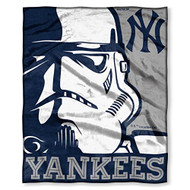 "New York Yankees MLB HD Silk Touch Throw Blanket Soft & Cozy Throw 50"" x 60"""