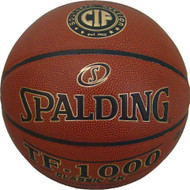 "Spalding TF-1000 Classic ZK Indoor Basketball NFHS Official Size 7, 29.5"" CIF Southern Section"