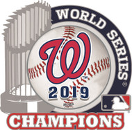 2019 Washington Nationals World Series Champions Trophy Lapel Pin