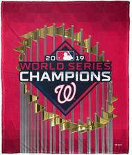 "Washington Nationals The Northwest Company 2019 World Series Champions 50"" x 60"" Silk Touch Blanket"