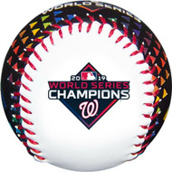 2019 MLB World Series Washington Nationals Champions Navy Colored Collectible Souvenir Replica Baseball by Rawlings