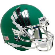 North Texas Mean Green Chrome Schutt Mini Authentic Football Helmet
