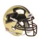 Purdue Boilermakers Alternate Gold Chrome Schutt Mini Authentic Football Helmet