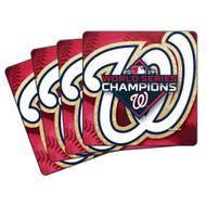Washington Nationals MLB 2019 World Series Champions 4-Pack Puck Coaster Set
