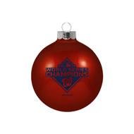 Washington Nationals 2019 World Series Champions Small Glass Ball Ornament