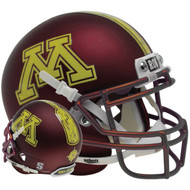 Minnesota Golden Gophers Satin Maroon Schutt Mini Authentic Football Helmet