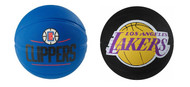 Los Angeles Clippers and Lakers Spalding NBA Mini Rubber Basketballs Combo (2 balls) Size 3 / 22 inch