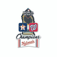 2019 World Series Historical Champions Commemorative Lapel Pin - Washington Nationals vs. Houston Astros