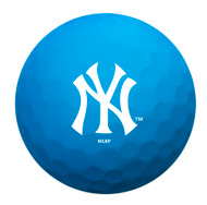 Zero Friction Spectra Dozen Golf Balls New York Yankees Neon Blue