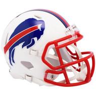 Riddell Buffalo Bills White Flat Matte Alternate Speed Mini Football Helmet
