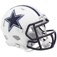 Riddell Dallas Cowboys White Flat Matte Alternate Speed Mini Football Helmet