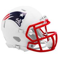 Riddell New England Patriots White Flat Matte Alternate Speed Mini Football Helmet