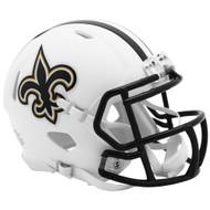 Riddell New Orleans Saints White Flat Matte Alternate Speed Mini Football Helmet