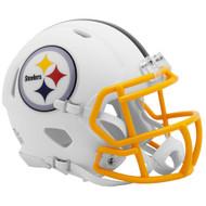 Riddell Pittsburgh Steelers White Flat Matte Alternate Speed Mini Football Helmet