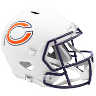 Chicago Bears Flat White Matte Alternate Speed Replica Full Size Football Helmet