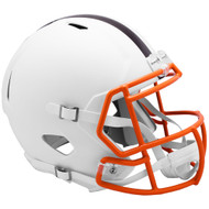Cleveland Browns Flat White Matte Alternate Speed Replica Full Size Football Helmet