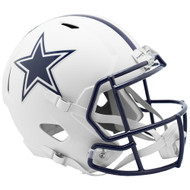 Dallas Cowboys Flat White Matte Alternate Speed Replica Full Size Football Helmet