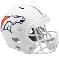 Denver Broncos Flat White Matte Alternate Speed Replica Full Size Football Helmet