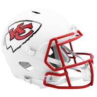 Kansas City Chiefs Flat White Matte Alternate Speed Replica Full Size Football Helmet