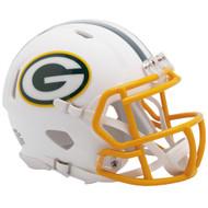 Green Bay Packers Flat White Matte Alternate Speed Replica Full Size Football Helmet