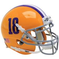 LSU Tigers Alternate #18 Schutt Mini Authentic Football Helmet