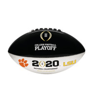 2020 COLLEGE FOOTBALL PLAYOFF CFP OFFICIAL SIZE AUTOGRAPH DUELING FOOTBALL - LSU vs. Clemson