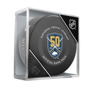 Buffalo Sabres 50th Anniversary Inglasco Official NHL Game Puck in Cube - New 2019-2020 Version