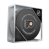 Philadelphia Flyers Inglasco Official NHL Game Puck in Cube - New 2019-2020 Version