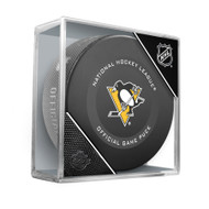 Pittsburgh Penguins Inglasco Official NHL Game Puck in Cube - New 2019-2020 Version
