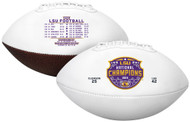 LSU Tigers 2020 College Football National Champions Full Sized Football